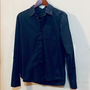 Guess Men's Casual Black Button Down Size M